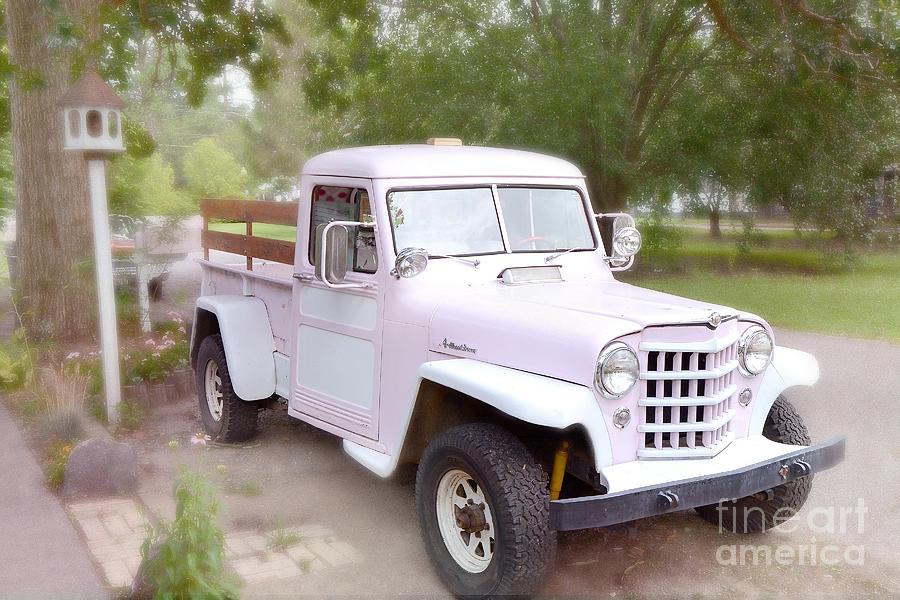 Kathy Fornal   Vintage American Pink Truck   Vintage Pink 1950