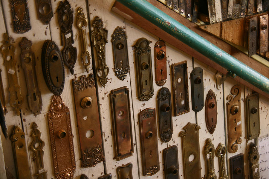 Hippo Hardware Photograph   Vintage And Antique Door Knob And Lock Plates  By Elizabeth Rose