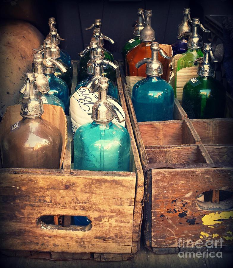Vintage Antique Seltzer Bottles Photograph By Miriam Danar