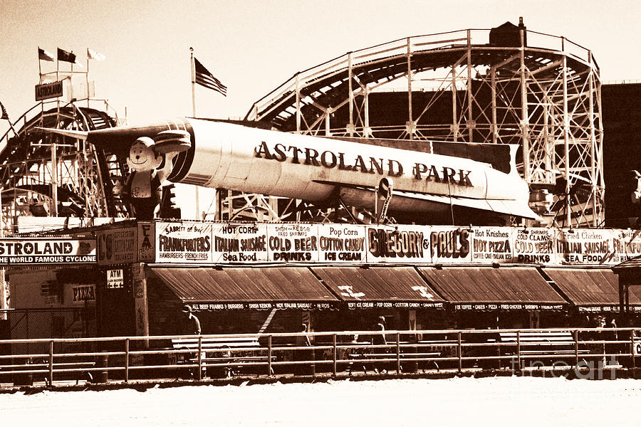 New York City Photograph - Vintage Astroland Park by John Rizzuto