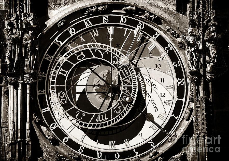 Vintage Photograph - Vintage Astronomical Clock by John Rizzuto