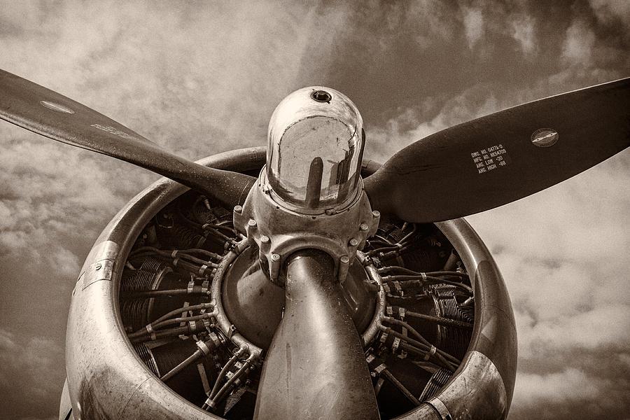 3scape Photograph - Vintage B-17 by Adam Romanowicz