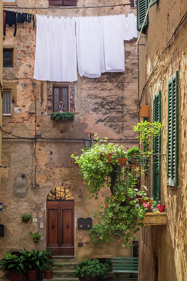 Vintage Balcony On The Street In Italy Photograph by Shaiith