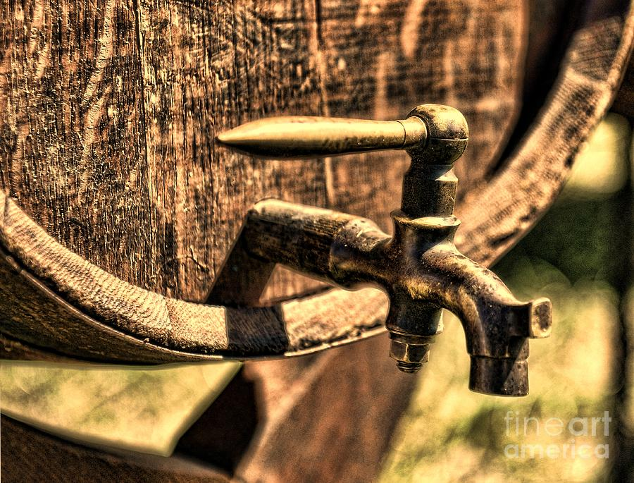 Barrel Tap Photograph - Vintage Barrel Tap by Paul Ward