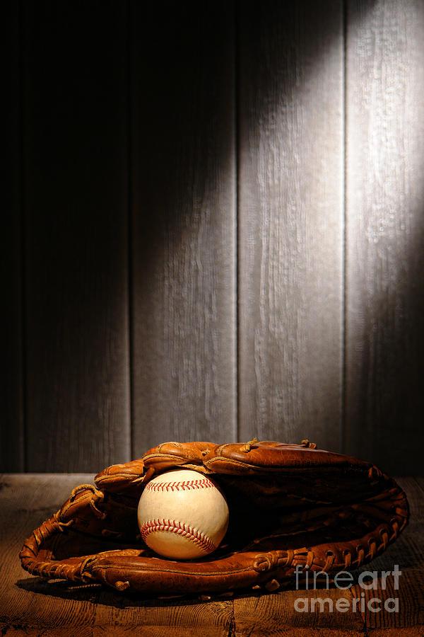 Baseball Photograph - Vintage Baseball by Olivier Le Queinec