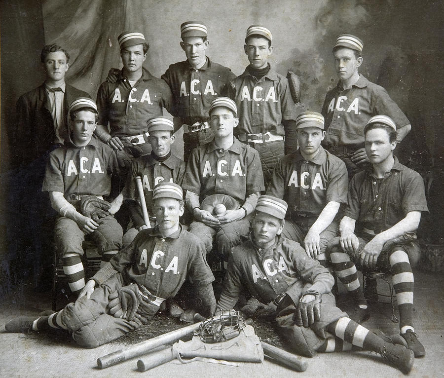 Baseball Photograph - Vintage Baseball Team by Russell Shively