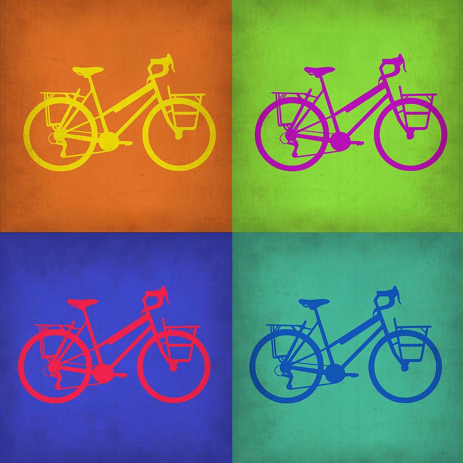 Vintage Bicycle Painting - Vintage Bicycle Pop Art 1 by Naxart Studio