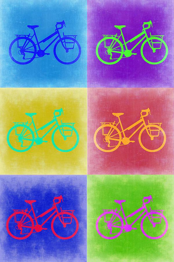 Vintage Bicycle Painting - Vintage Bicycle Pop Art 2 by Naxart Studio