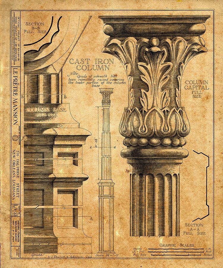 Vintage Architectural Drawings Art | Fine Art America