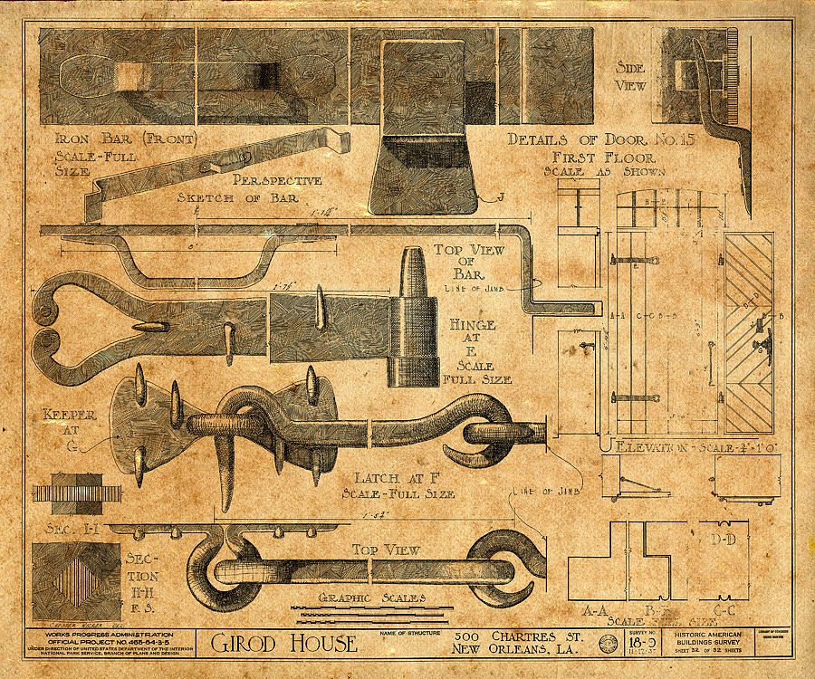 Vintage Blueprints 6 Photograph by Andrew Fare