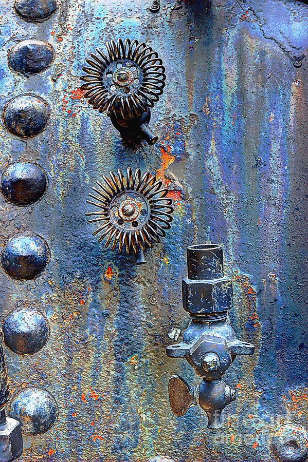 Vintage Boiler Valves Photograph by Michael Eingle