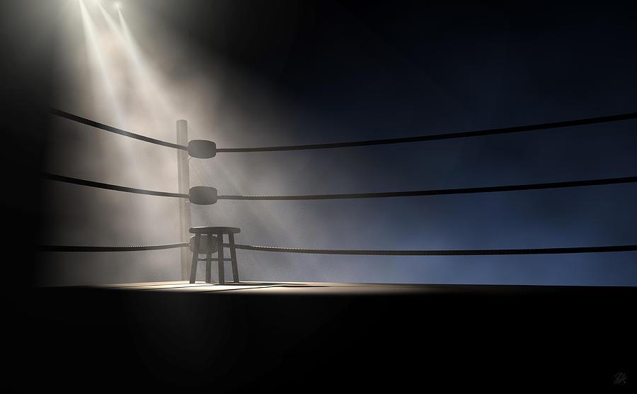 Vintage Boxing Corner And Stool Digital Art By Allan Swart