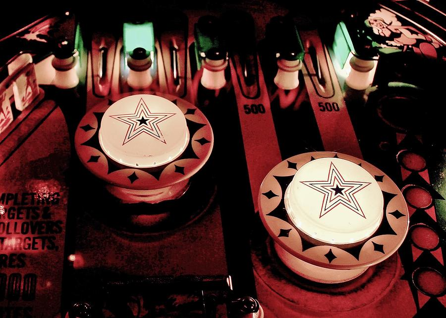 Pinball Photograph - Vintage Bumpers by Benjamin Yeager