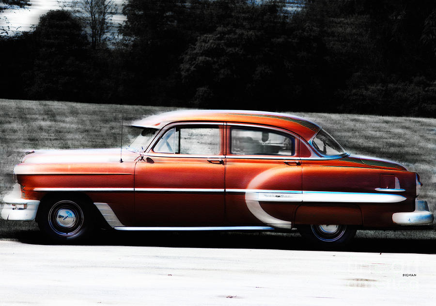 Car Photograph - Vintage By Bel Air  by Steven Digman