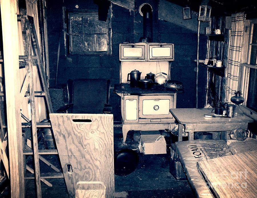 Vintage Photograph - Vintage Cabin Interior by Phil Perkins