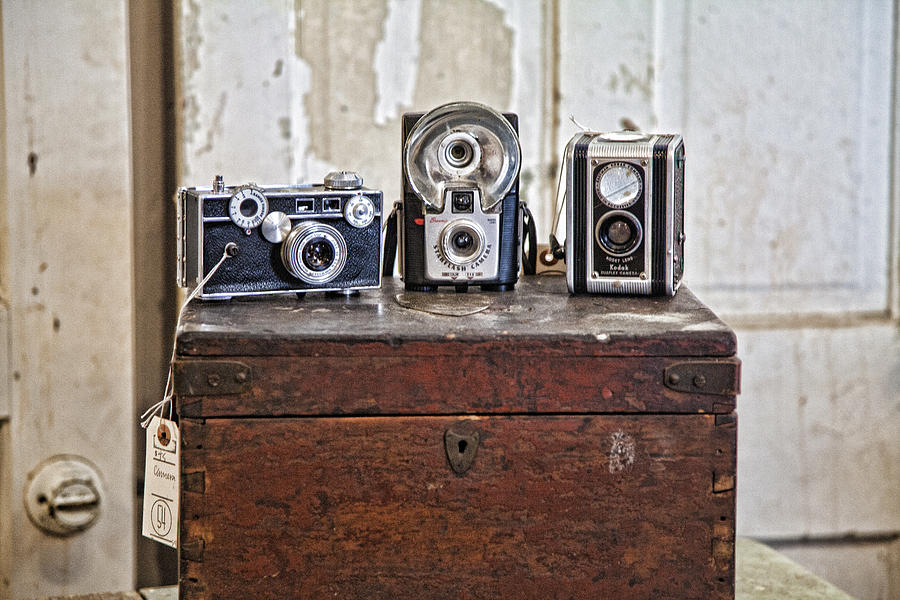 Cameras Photograph - Vintage Cameras At Warehouse 54 by Toni Hopper