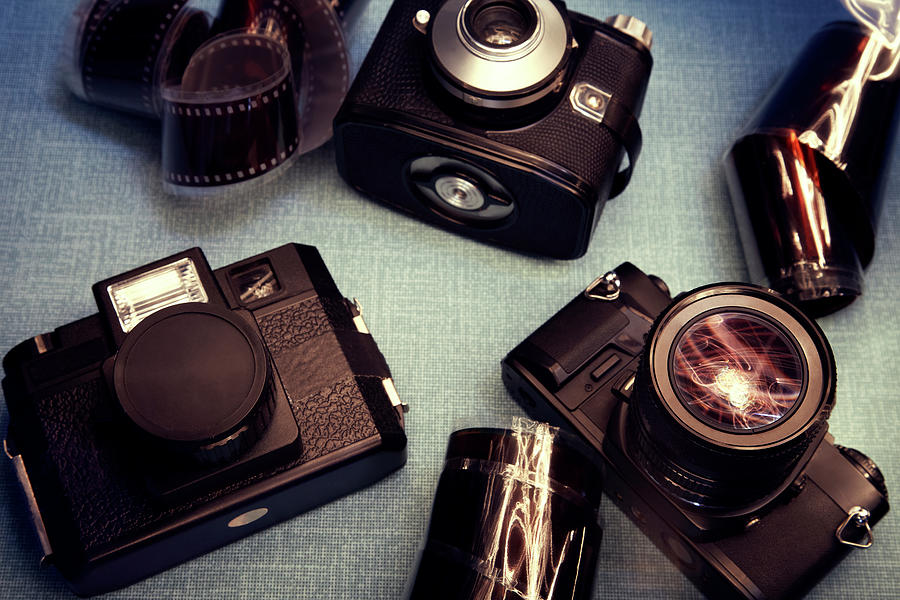 Vintage Cameras Photograph by Sanneberg