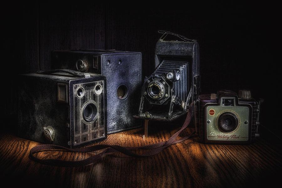 Anastigmat Photograph - Vintage Cameras Still Life by Tom Mc Nemar