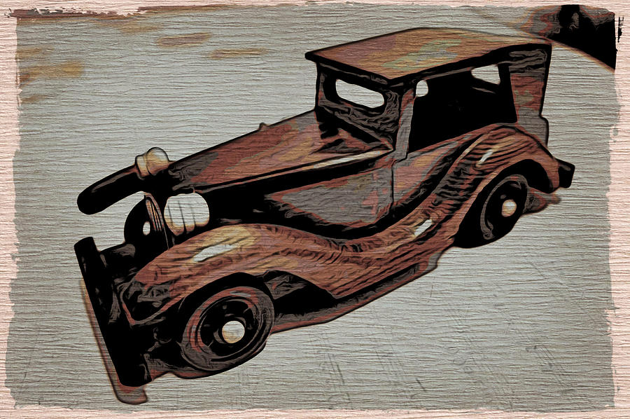 Car Painting - Vintage Car by Joel Panida