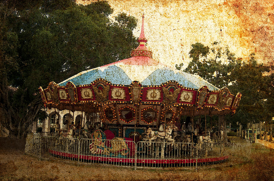 Vintage Carousel Photograph by Pete Rems