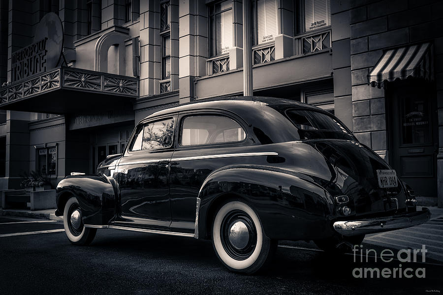 Florida Photograph - Vintage Chevrolet In 1934 New York City by Edward Fielding