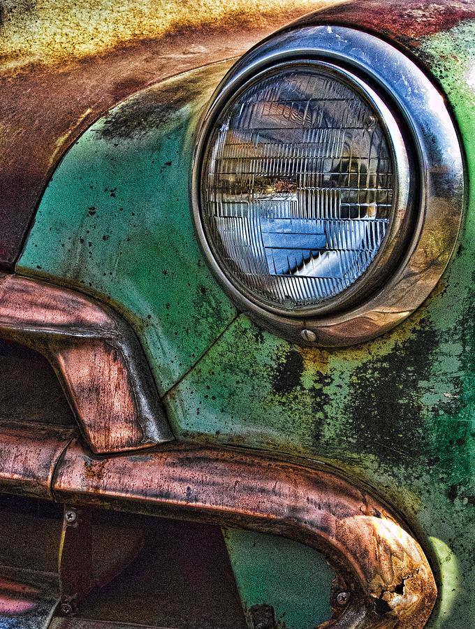 Car Photograph - Vintage Chevy 1 by Nancy De Flon