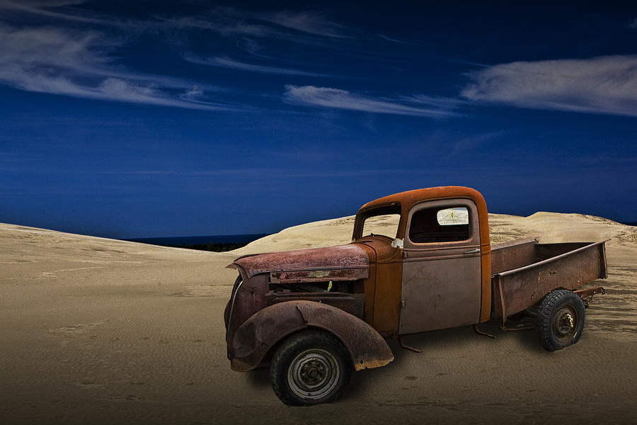 Vintage Chevy Pickup On The Dunes Photograph