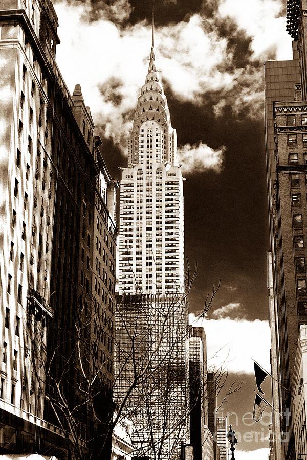 New York City Photograph - Vintage Chrysler Building by John Rizzuto