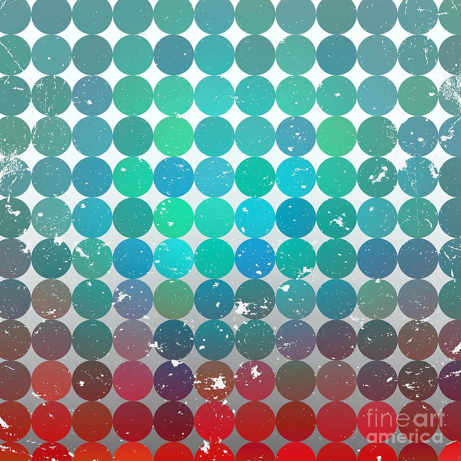 Bright Digital Art - Vintage Circles Pattern.geometric by Veronika M