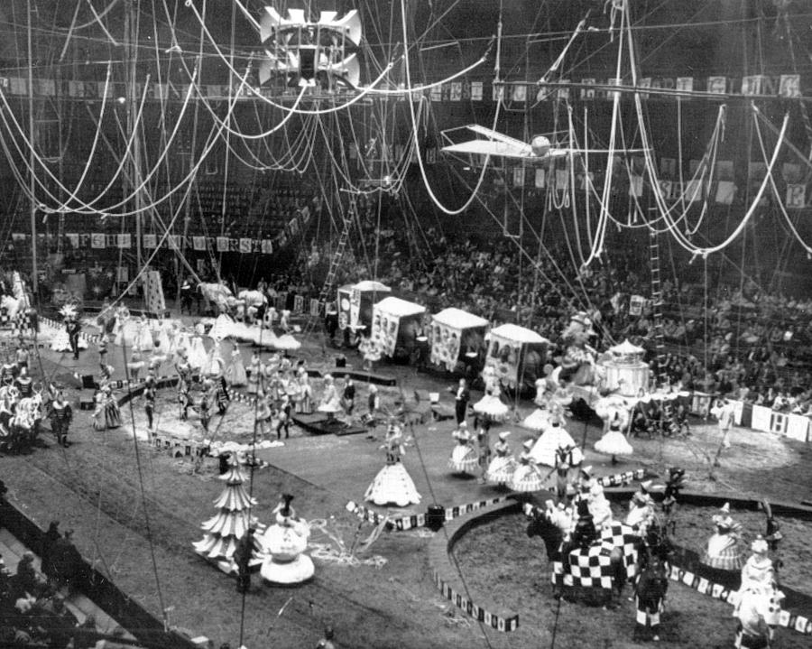 Classic Photograph - Vintage Circus Inside Tent by Retro Images Archive & Vintage Circus Inside Tent Photograph by Retro Images Archive