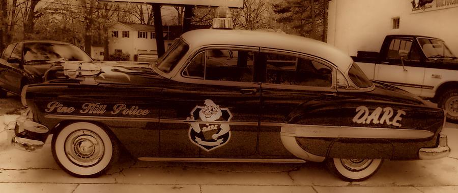 Vintage Police Car Photograph - Vintage Classic D.a.r.e. Police Car by Thomas  MacPherson Jr