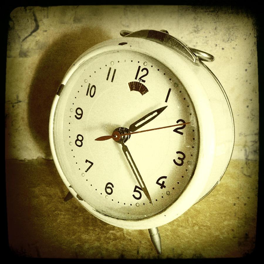 Sepia Photograph - Vintage Clock by Les Cunliffe