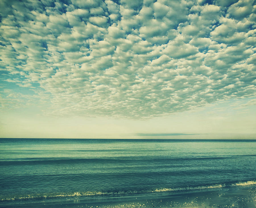 Tranquil Photograph - Vintage Clouds by Kim Hojnacki