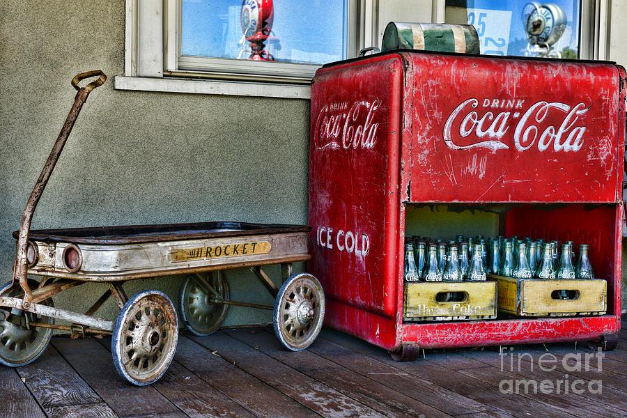 Paul Ward Photograph - Vintage Coca-cola And Rocket Wagon by Paul Ward