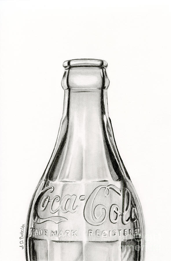 Vintage Coke Bottle Drawing By Sarah Batalka
