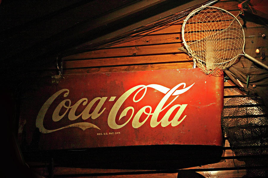 Advertizing Photograph - Vintage Coke-cola Sign by Linda Phelps