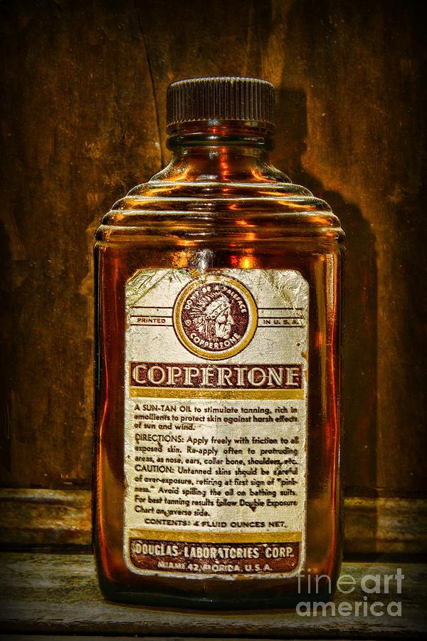 Vintage Coppertone Bottle Photograph By Paul Ward