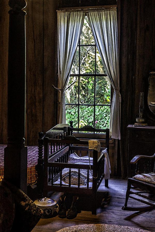 Vintage Photograph - Vintage Crib And Bedroom by Lynn Palmer