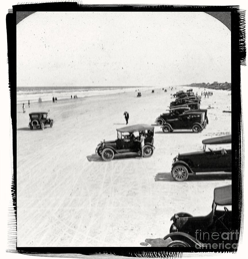 Vintage Photograph - Vintage Daytona Beach Florida by Edward Fielding
