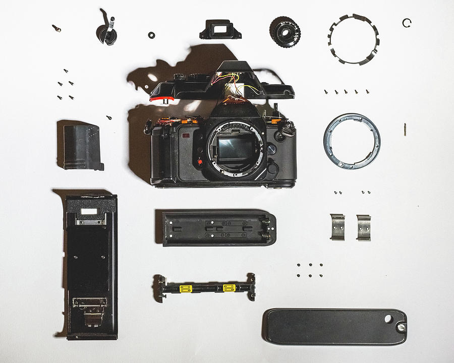 Vintage Disassembled Camera Photograph by Deimagine