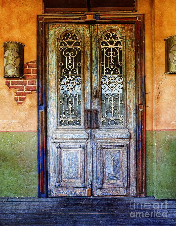 Door Photograph - vintage door in Hico TX by Elena Nosyreva