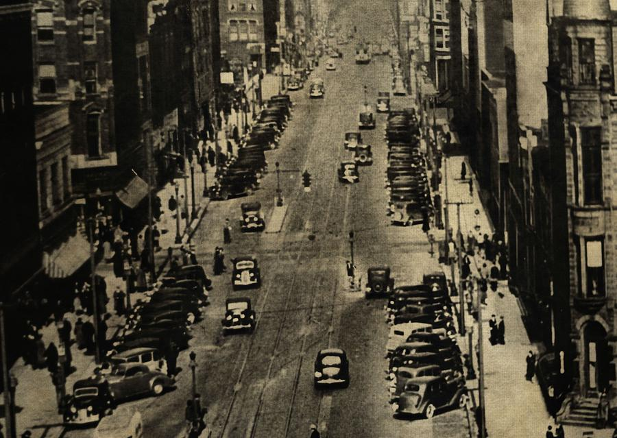 Vintage Downtown View Photograph