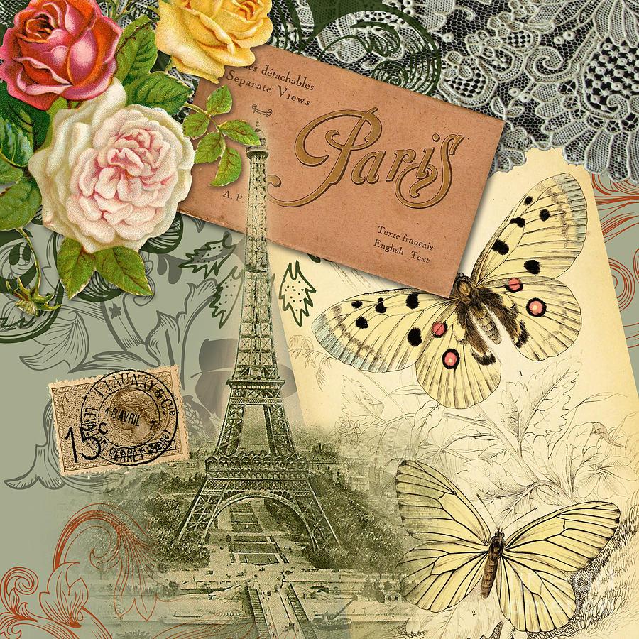 Винтажная открытка париж