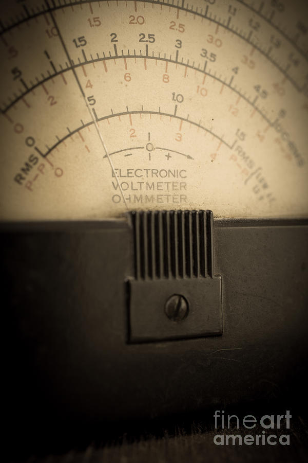 Volts Photograph - Vintage Electric Meter by Edward Fielding
