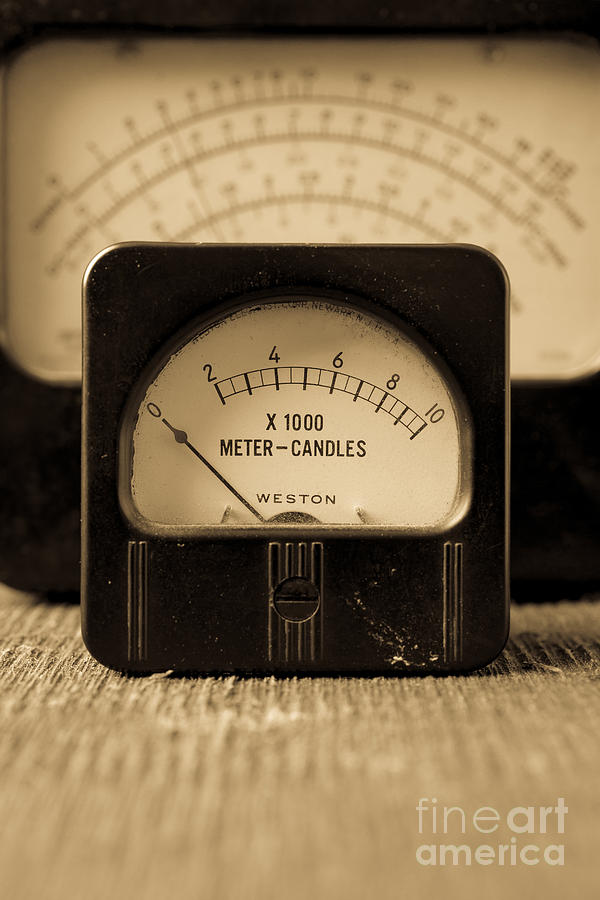 Power Photograph - Vintage Electrical Meters by Edward Fielding