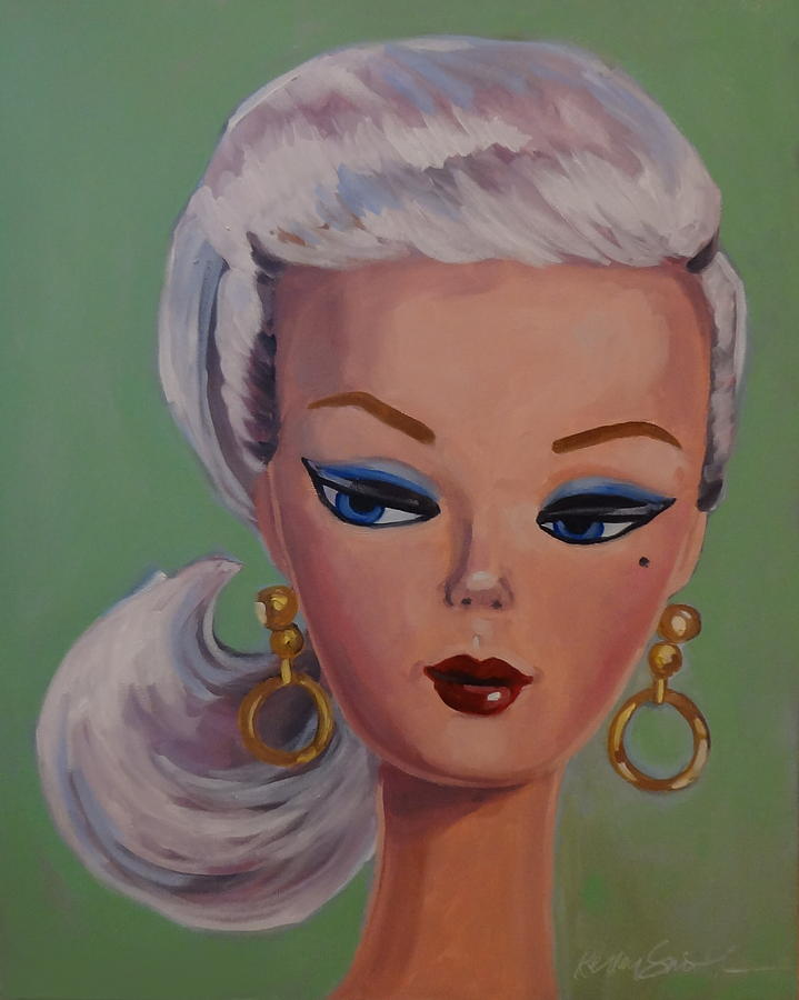Vintage Fashion Doll Series  Painting by Kelley Smith