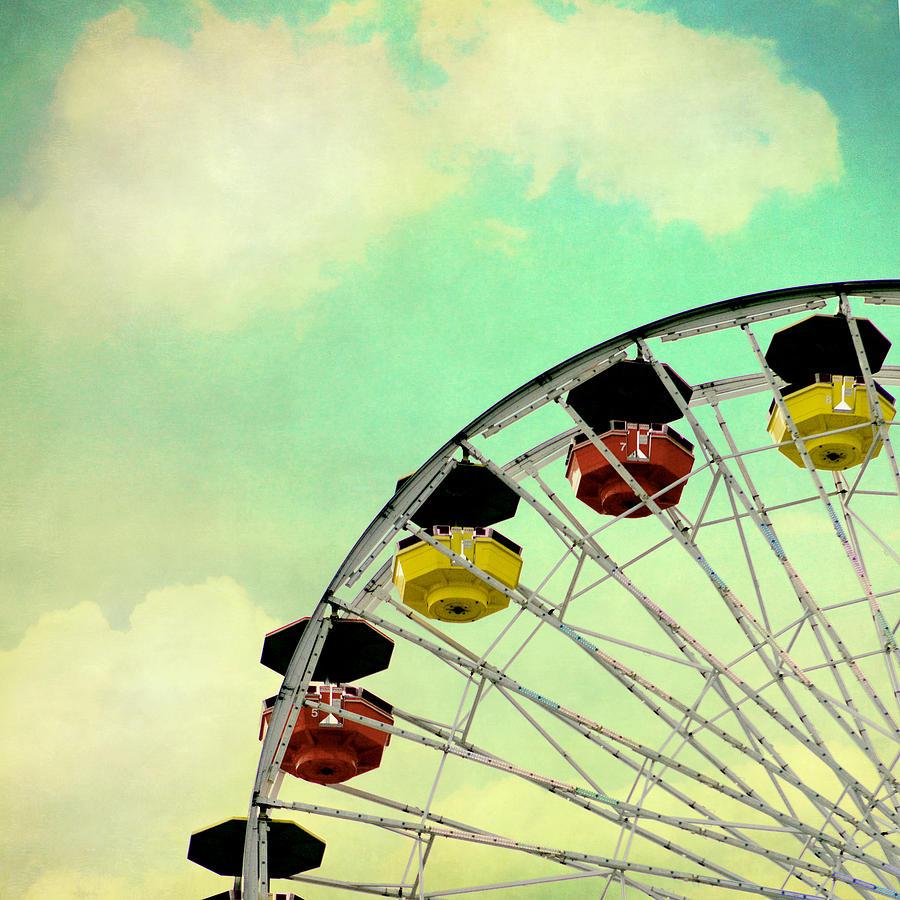 Vintage Ferris Wheel Photograph by Jeana Childress