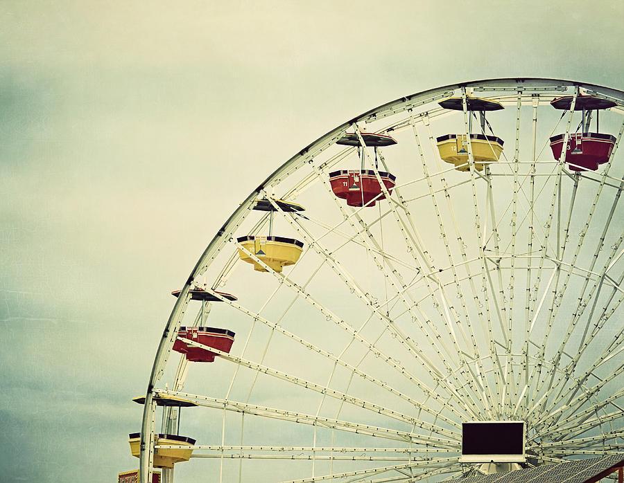 Vintage Ferris Wheel Photograph by Kim Hojnacki