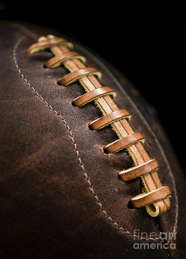 Football Photograph - Vintage Football by Diane Diederich