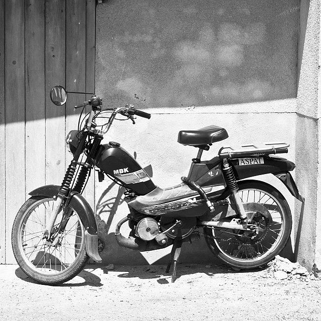 Cruising Photograph - Vintage French Mbk Motorbike by Georgia Fowler